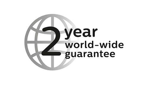 2 jaar garantie, geschikt voor alle voltages.