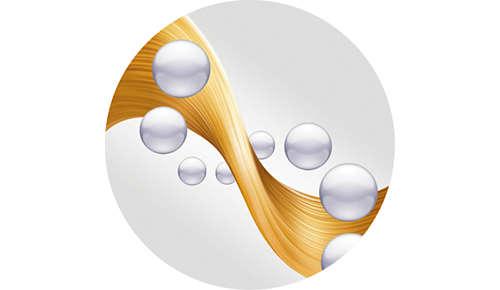 Ionic conditioning prevents static for frizz free shiny hair