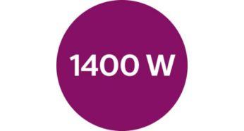 Потужність до 1400Вт для постійної та потужної подачі пари