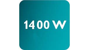 Мощност до 1400 W, позволяваща постоянен силен поток на парата
