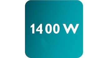 Výkon až 1400W umožňuje súvislý a silný výstup pary