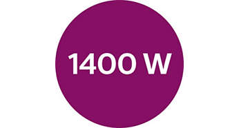 최대 전원 1400W로 강력한 연속 스팀 분사 가능