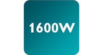 Мощност до 1600 W, позволяваща постоянен силен поток на парата