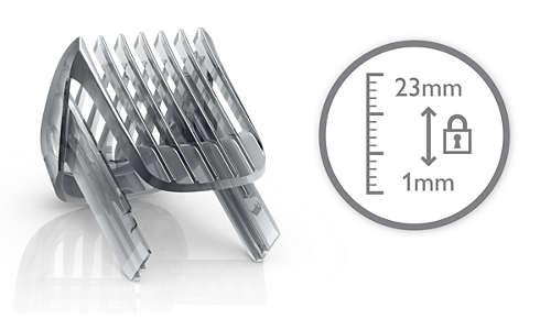Sisältää ohjauskamman, jossa on 12 pituusasetusta 1–23mm.