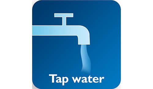 Efficace avec de l'eau du robinet chaude ou froide, avec ou sans détergent