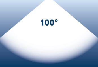 Ampio raggio luminoso: fino a 100°