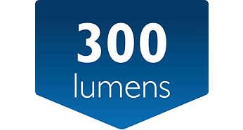 Salida luminosa: 300lúmenes