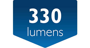 Luminosité : 330 lumens