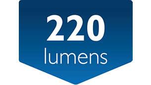 Salida luminosa: 220lúmenes