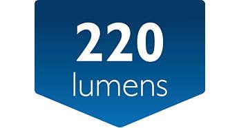 Saída de luz: 220 lúmens