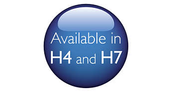 Available in most popular automotive lamp types: H4 and H7
