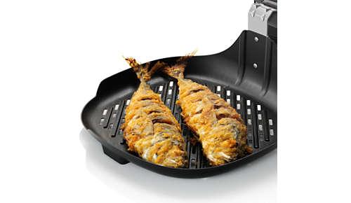 Käyttämällä koko paistopinnan voit grillata jopa kokonaisen kalan
