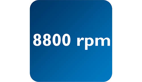 Bis zu 8800Klingenumdrehungen/Min. für eine effektive Entfernung