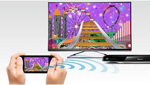 Bekijk uw Miracast™-gecertificeerde apparaatinhoud op uw TV