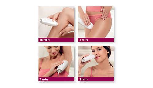 De SkinTone-sensor adviseert de ideale lichtintensiteit op basis van je huidtype