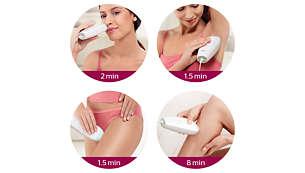 De Skin Tone-sensor adviseert de ideale lichtintensiteit op basis van je huidtype