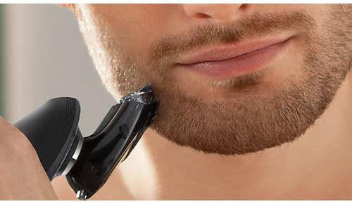 Aufsetzbarer Bartstyler mit fünf Längeneinstellungen