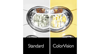 Designet til reflektoroptik, så farven kan tilpasses