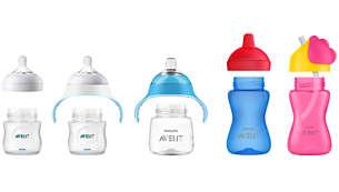 Compatible con las mamaderas y los vasos Philips Avent