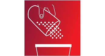Entleeren des Staubbehälters in einem Schritt, einfach und hygienisch