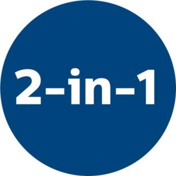 """Функционалност """"2 в 1"""" за почистване на подове и мебели"""