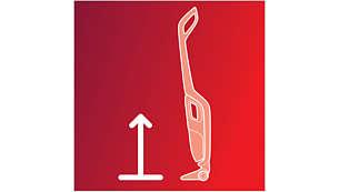 Vertikālā novietošanas pozīcija ļauj ierīci brīvi novietot jebkurā vietā
