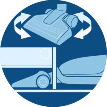 Максимална гъвкавост за почистване на трудни области