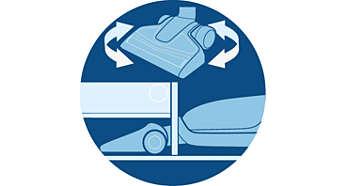 Απόλυτη ευελιξία για καθαρισμό σε δύσκολα σημεία