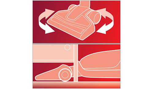 Maksimal fleksibilitet til rengøring af vanskelige områder