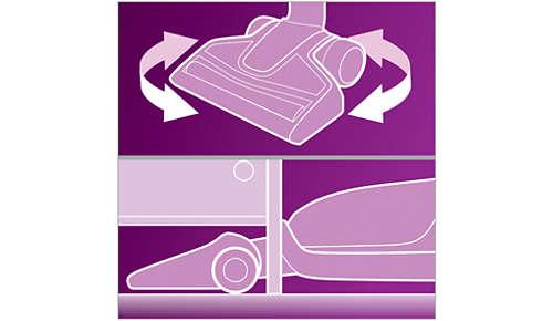 Maximale flexibiliteit om lastige plekken schoon te maken
