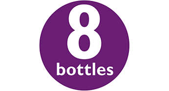 Sopii kaikenkokoisille pulloille: 8 pulloa, pumppu ja tutit