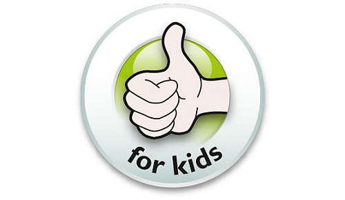 Kindervriendelijk product speciaal ontworpen voor kinderen