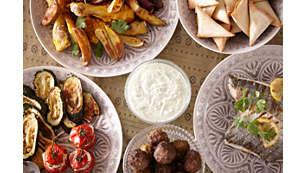 肉食、海鮮或蔬菜,任您選擇!