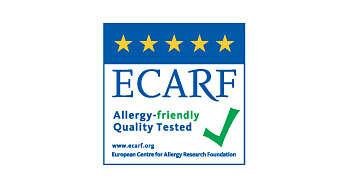 ECARF의 테스트로 검증된 알레르기 방지 성능
