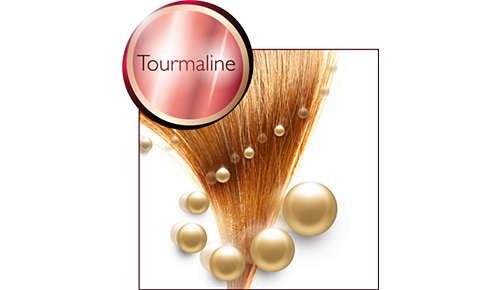 Turmalínový keramický povrch dodává vlasům lesk