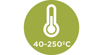 40 – 250°C temperature range