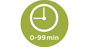 Easy-to-use timer for 0 – 99-minute settings