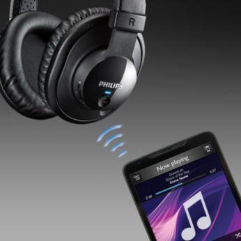 Bluetoothiga juhtmevaba muusika juhtimine ja kõnedele vastamine