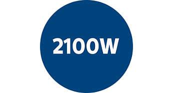 2 100 Watts motor genererar max 425 i uppsugningseffekt