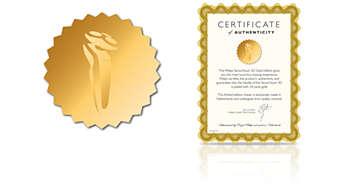 Ограниченная серия SensoTouch 3D: золотое покрытие 24карата (сертифицировано)
