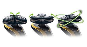 Система Philips SensoTouch GyroFlex 3D плавно повторяет все контуры лица
