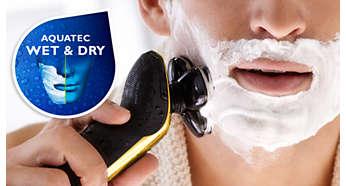 Уплотнение Aquatec: комфортное сухое и освежающее влажное бритье