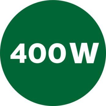 Powerful 400-W motor