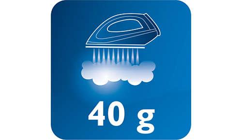 Dampfstoß von bis zu 40g/Min. für effektiveres Glätten