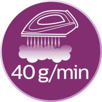 Kırışıklıkların daha iyi giderilmesi için 40 g/dk'ya kadar buhar çıkışı