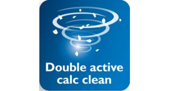 Double Active Calc System to help prevent calc built-up - Philips Azur Steam Iron