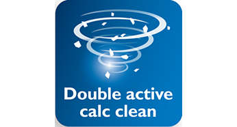 Double Active Calc System to help prevent calc built-up
