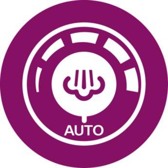 Автоматическая регулировка подачи пара обеспечивает оптимальное количество пара для каждого типа ткани