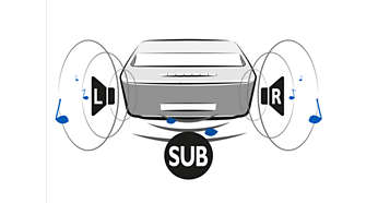 Integrated speakers and subwoofer