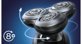 Heads flex in 8 different directions for a superb result - Philips Shaver Series 9000